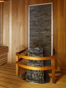 Декоративна каменна стена за сауна