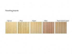 Дървен материал за изработка на сауна