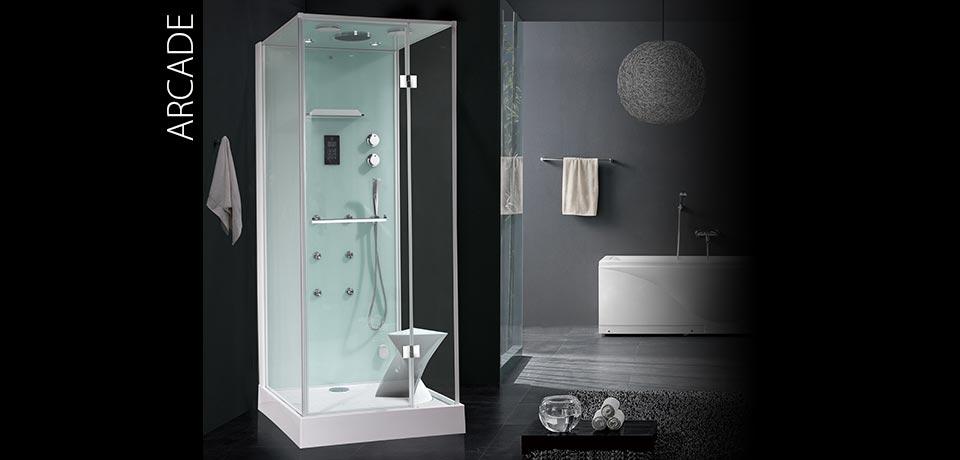 Парна душ кабина с хидромасаж