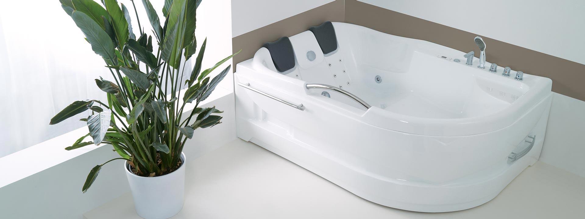 Луксозни вани за баня с воден и въздушен масаж