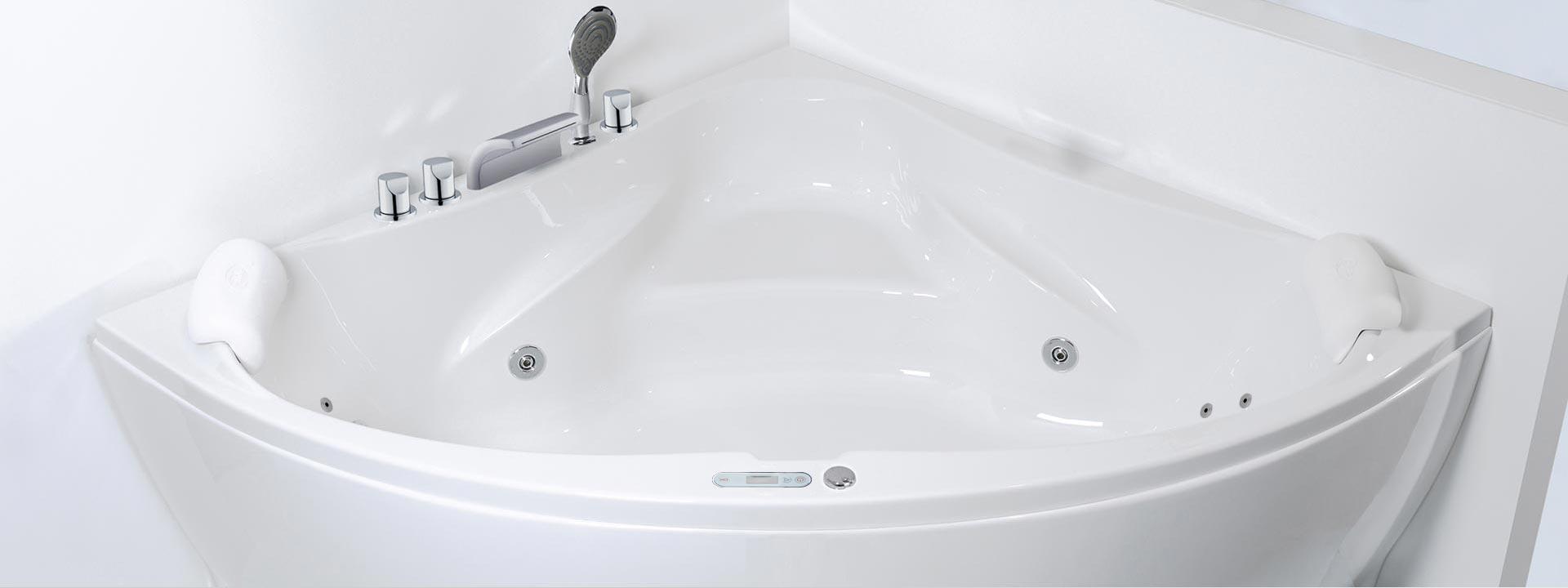 Ъглова вана с хидромасаж и въздушен масаж