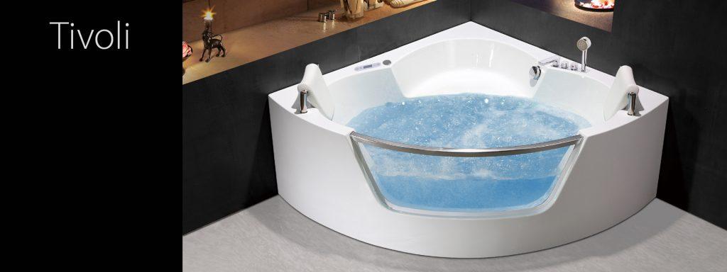 Ъглова вана с хидромасажна система