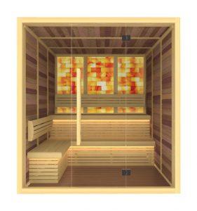 Сауна със солна кабина, сауна със солна стена, сауна със солна терапия