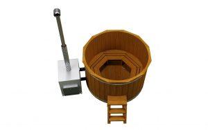 Градинска дървена каца тип гореща вана