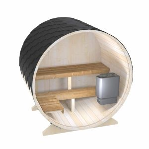 Външна сауна тип бъчва, кръгла градинска сауна